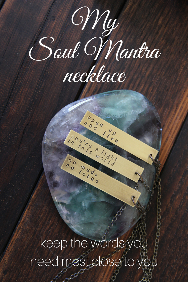 My Soul Mantra necklace: Keep the words you most need close to you with this customizable design