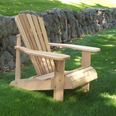Highland Dunes Cargo Solid Wood Adirondack Chair Color Unstained