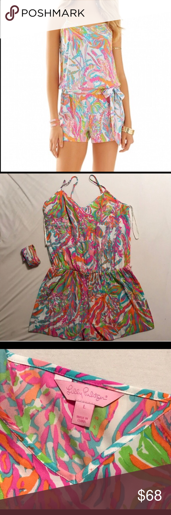 Lilly Pulitzer Romper Lilly Pulitzer Romper in Scuba to Cuba. Excellent condition- only worn once! Lilly Pulitzer Dresses