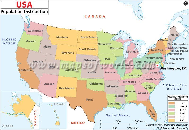 Usa Population Map Angels Cool Stuff Map United States Map