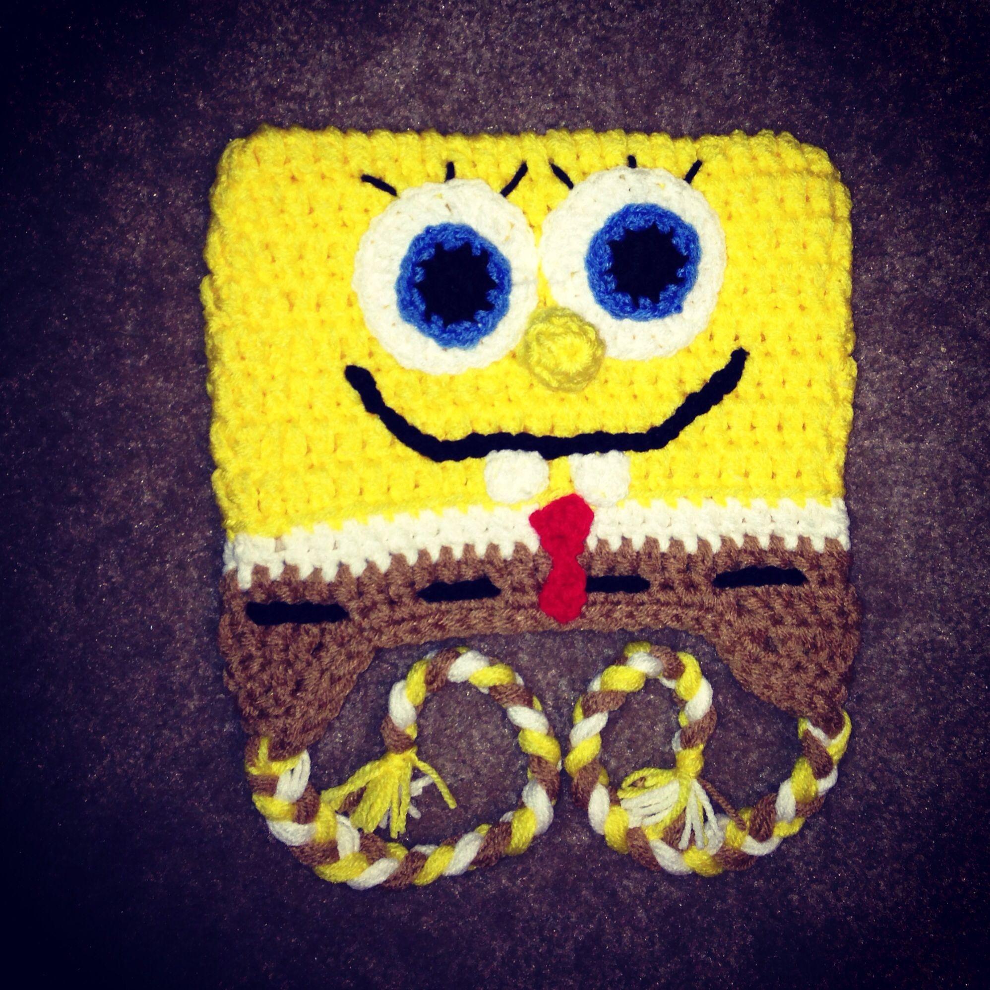 Crochet spongebob hat crafts Pinterest Spongebob and ...