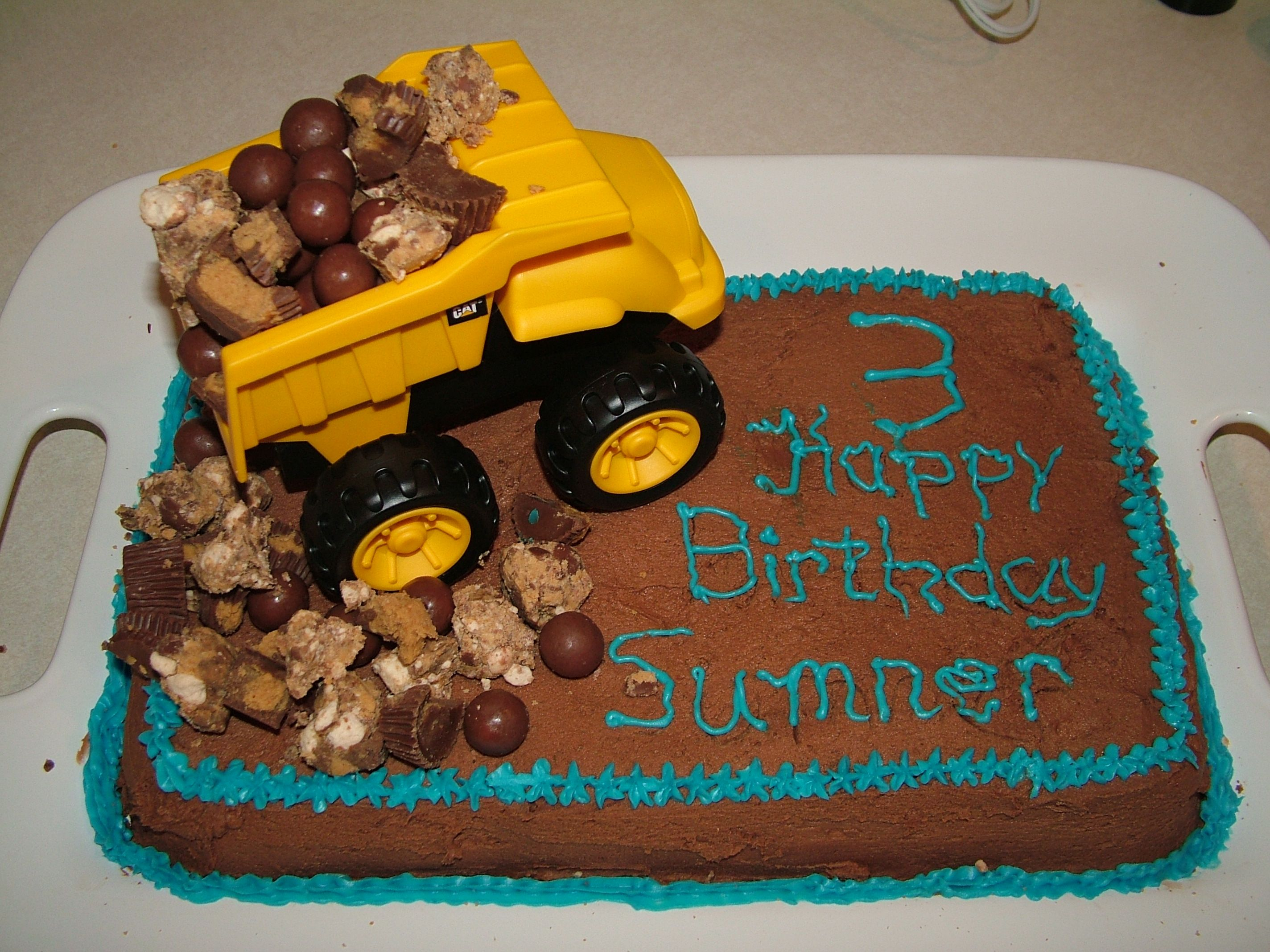 Fabulous Dump Truck Cake Boy Birthday Cake Kids Cake With Images Cake Funny Birthday Cards Online Elaedamsfinfo
