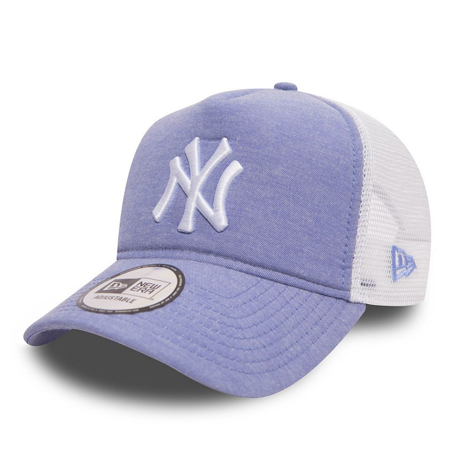 New Era MLB NY Yankees Oxford Trucker Cap Sky Blue Ny
