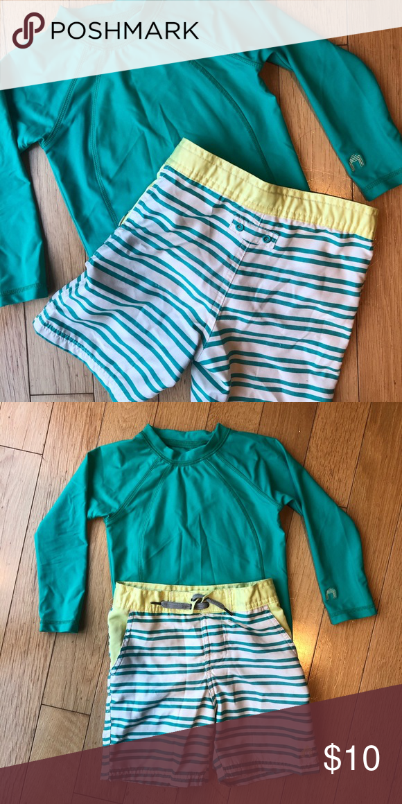 Boys sz 4 Bathing Suit set Super cute colors! Swim set w
