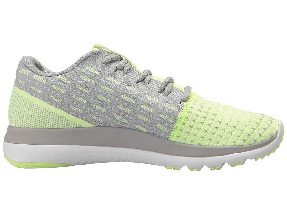 new concept 8f1a4 ef655 Under Armour UA Threadborne Slingflex Women s Running Shoes Overcast  Gray Lime Fizz White