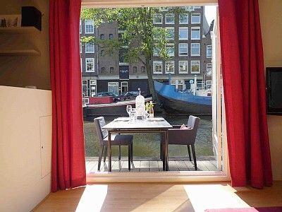Amsterdam: house boat: Terrace