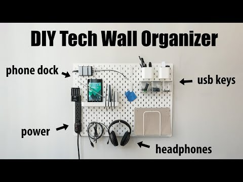 (37) DIY Tech Wall Organizer IKEA Skadis YouTube