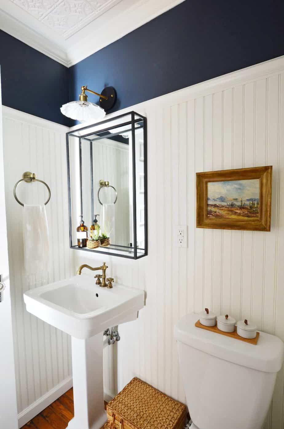 Room Reveal Our Vintage Modern Powder Room Remodel Bathroom