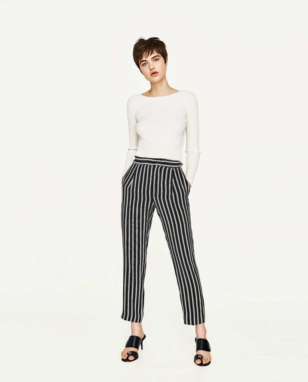 image 1 of striped trousers from zara same as mine. Black Bedroom Furniture Sets. Home Design Ideas