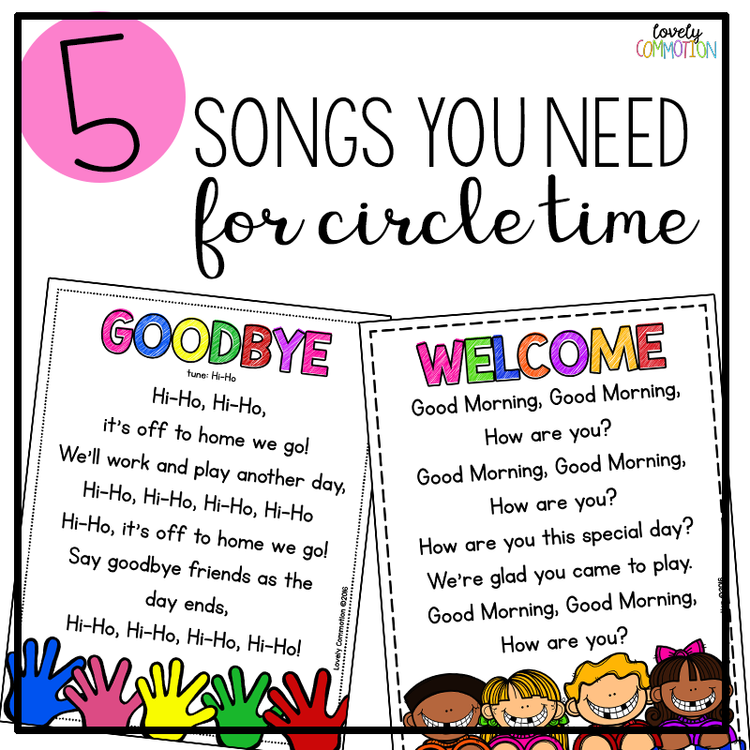 5 Songs you Need for Preschool Circle Time | Sing song ...