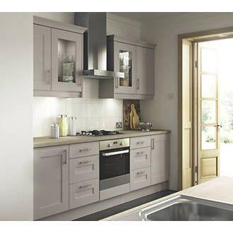 Matt Stone Shaker Kitchen Pelmet 2440 X 20 X 70mm Cashmere Shaker Fitted Kitchens Screwfix Com Cashmere Shaker Kitchen Cashmere Kitchen Kitchen Fittings