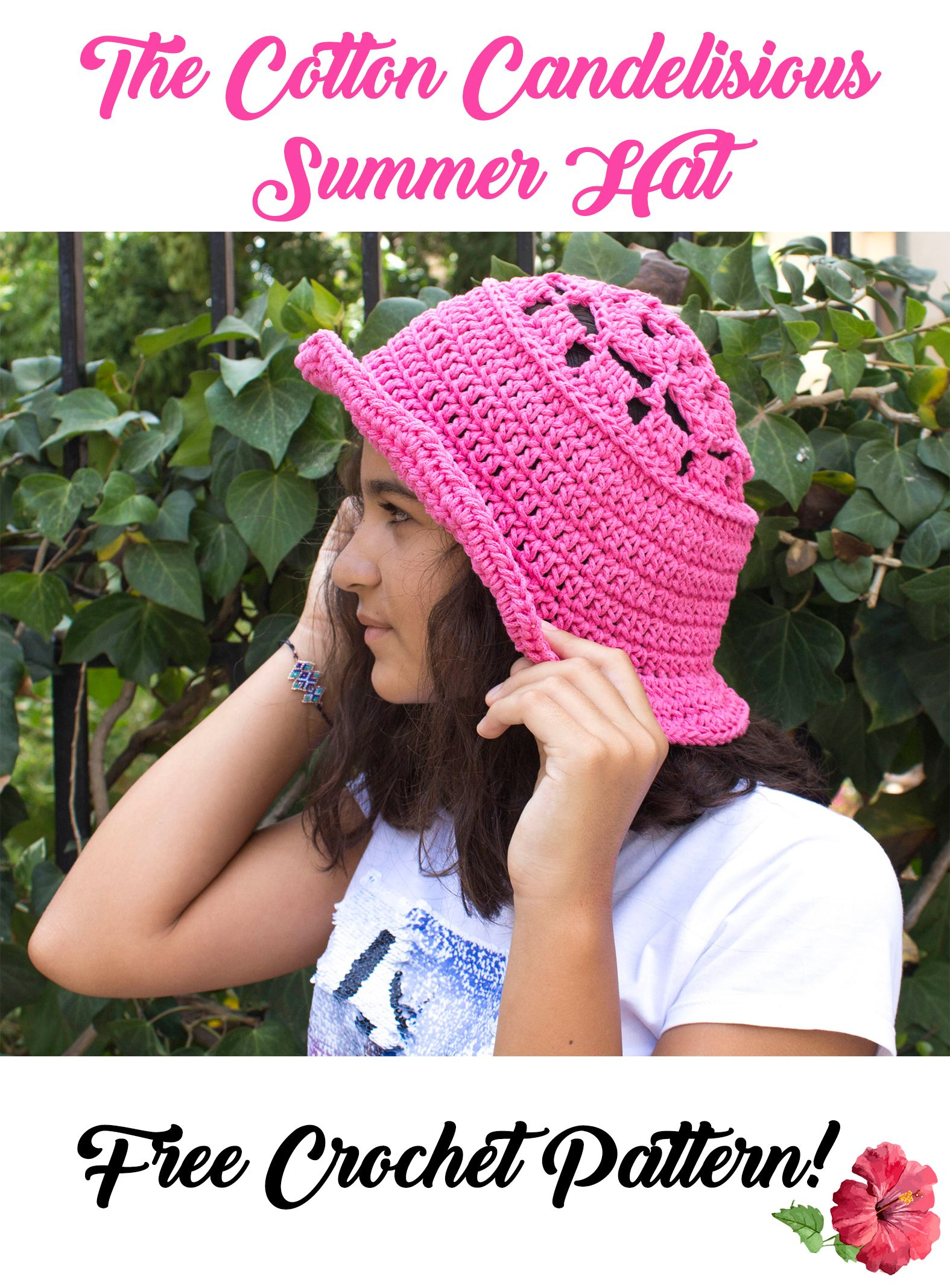 Click here to go to the free pattern!! This crochet summer hat is ...
