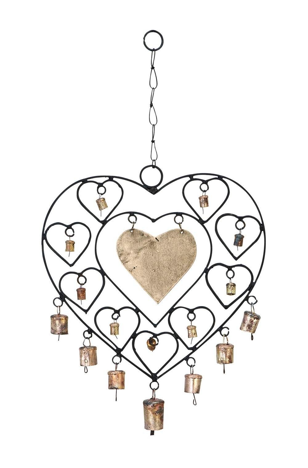 Heart Shaped Brass And Metal Wind Chimes Heartchimes