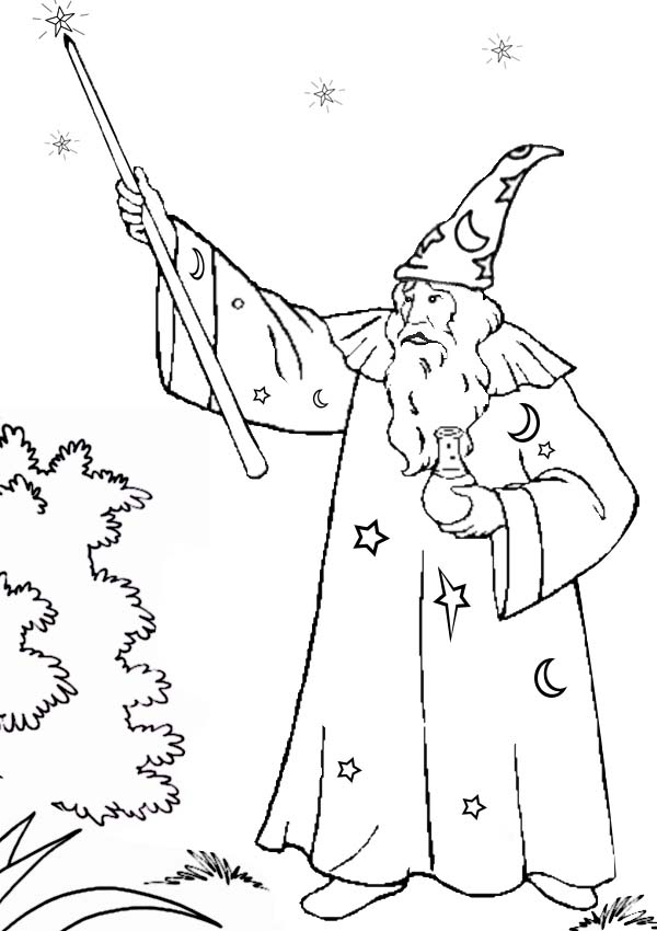 Magic Wand Of Merlin The Wizard Coloring Pages Bulk Color Merlin The Wizard Coloring Pages Coloring Pages For Kids