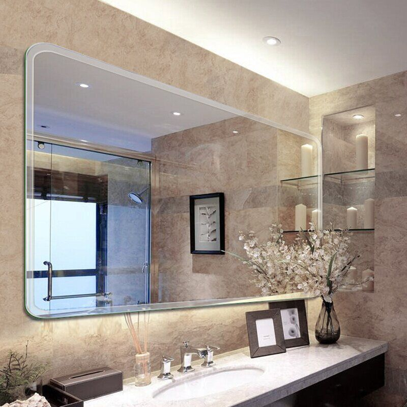 Pin By Tarheels1 On Smyrna Bathroom In 2021 Bathroom Mirror Lights Large Bathroom Mirrors Contemporary Bathroom Mirrors