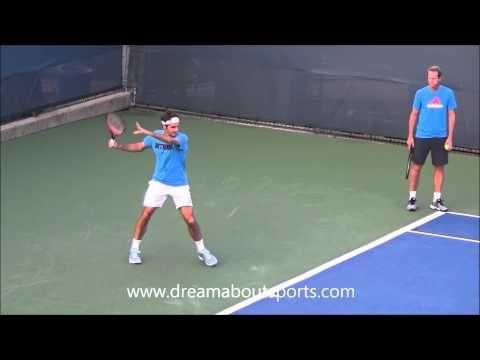 Roger Federer Forehand Slow Motion From Practice Session Cincinnati 2014 Youtube Roger Federer Tennis Forehand Tennis Lessons
