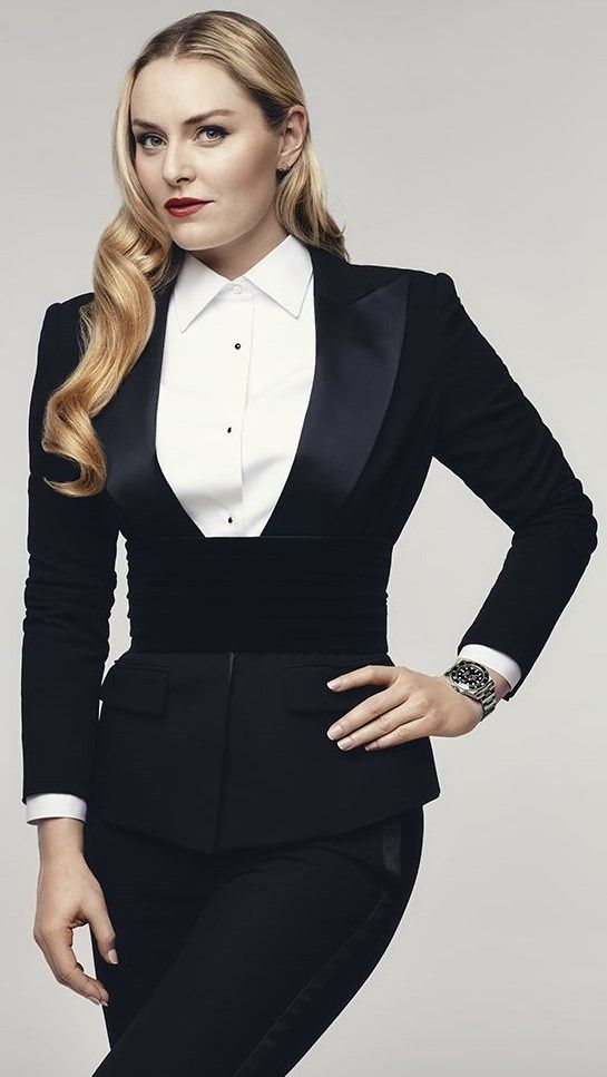 Lindsey Vonn Dressed Formal In Tuxedo And White Shirt  6ac115fa57454