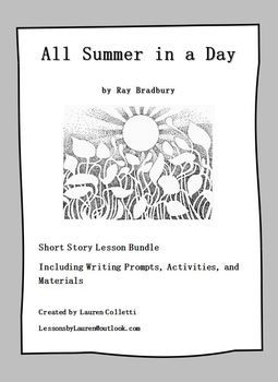 photo regarding All Summer in a Day Worksheet named All Summertime in just a Working day Lesson Recreation Offer TpT Language