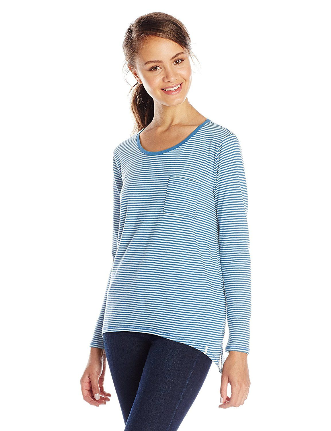 Volcom Juniors' Lived In Stripe Long-Sleeve Tee ** Hurry! Check out this great product : Fashion