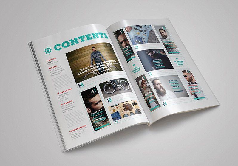 FREE Rustic Magazine Template | Верстка | Pinterest | Template ...