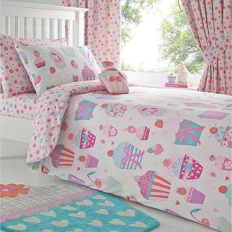 Bluezoo Kid S Pink Cupcake Printed Bedding Set