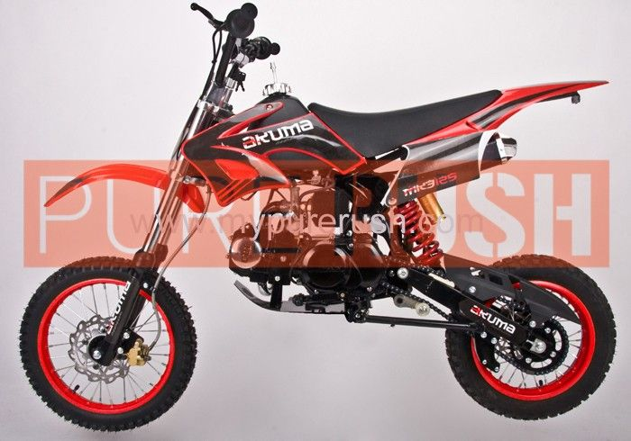Akuma Assassin 125cc Mk3 Pit Bike Red Beast Mode 365