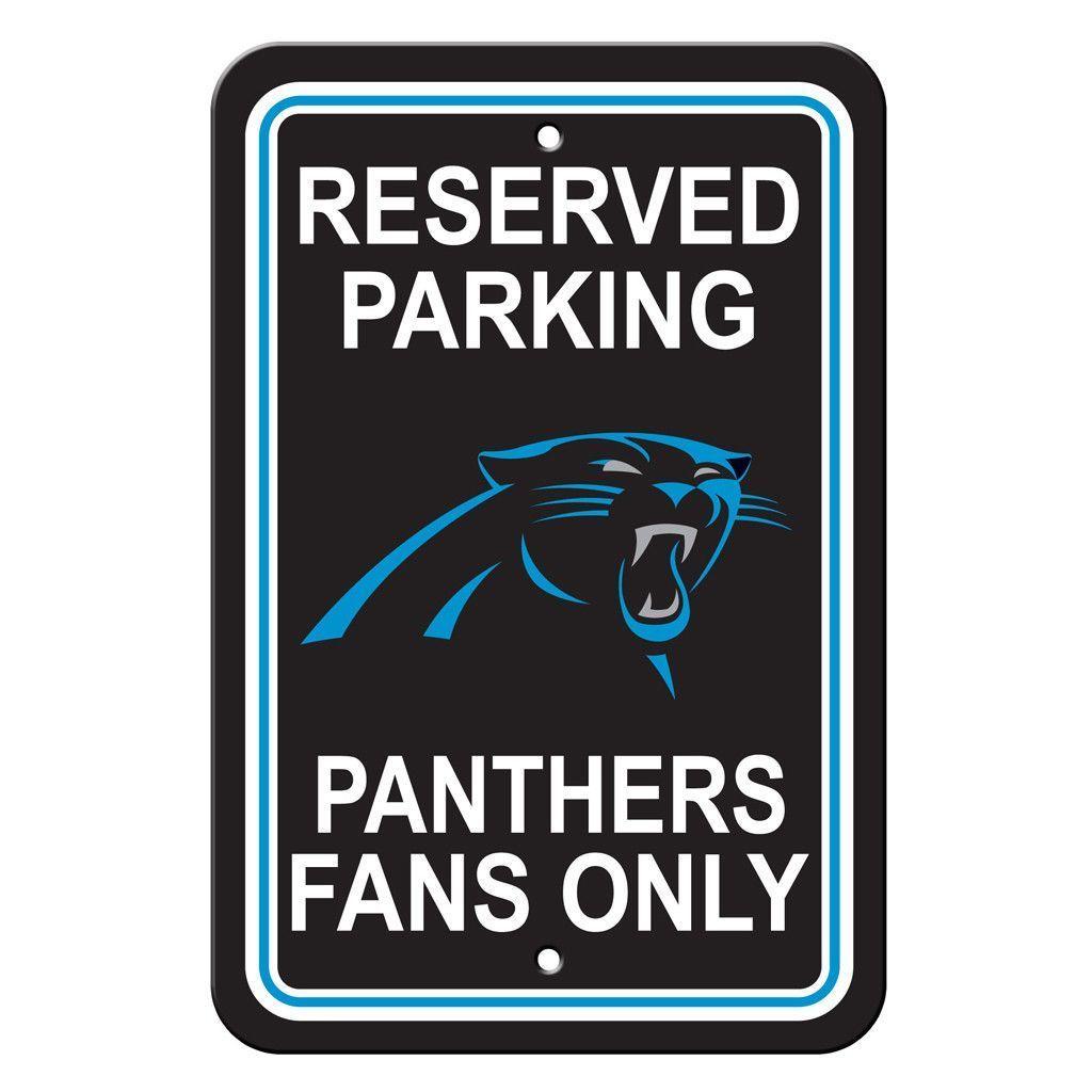Carolina panthers reserved parking sign nfl carolina