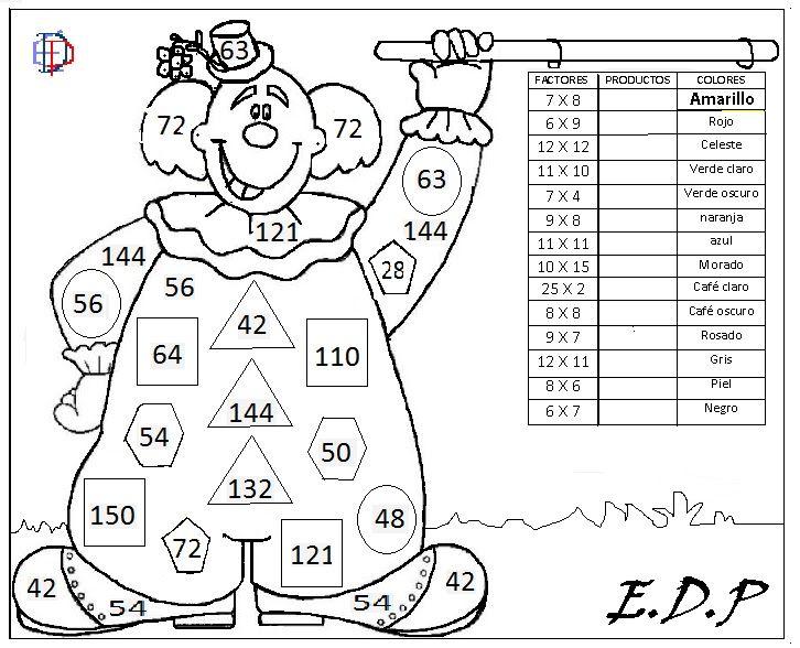 Matemática Entretenida EDP: LÁMINAS PARA PINTAR