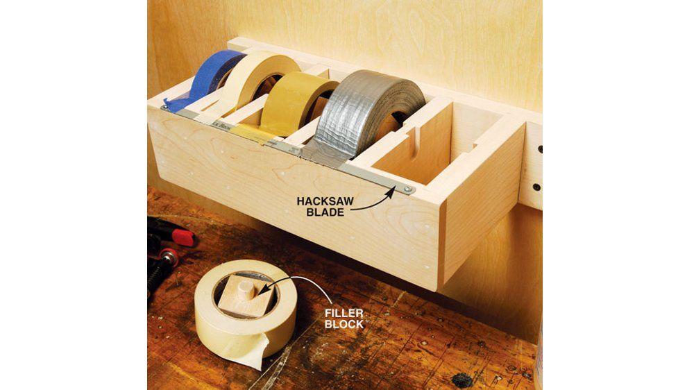 20 astuces pour ranger son atelier scotch rangement et. Black Bedroom Furniture Sets. Home Design Ideas