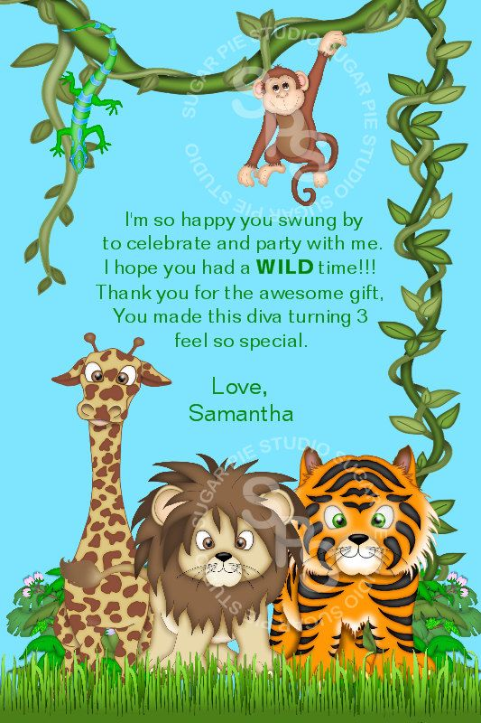 diy jungle theme first birthday Jungle Safari Zoo Animals or ANY