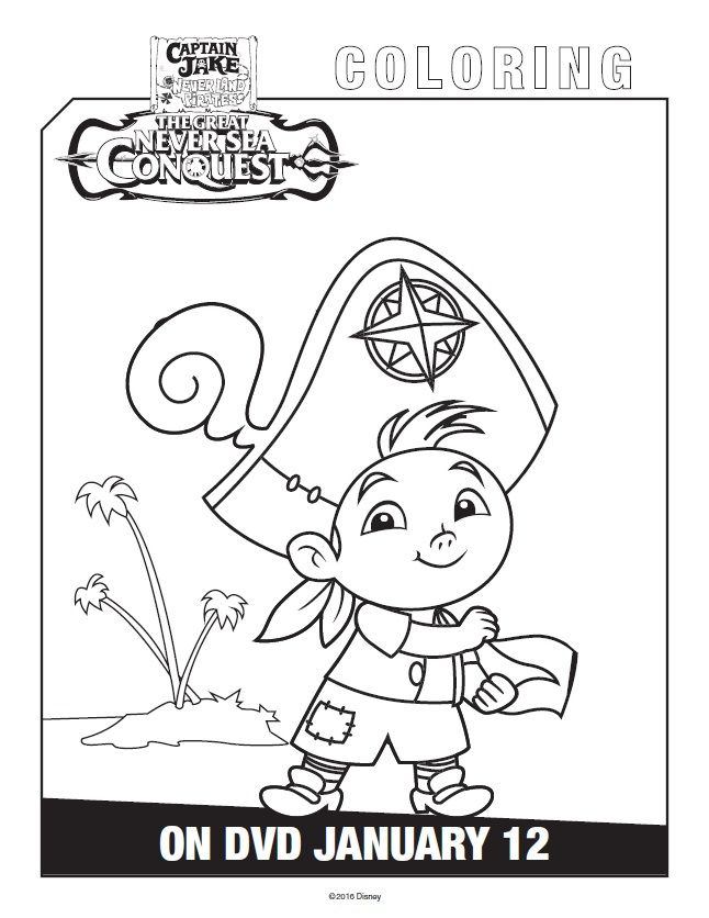 Free Printable Jake And The Never Land Pirates Coloring Pages Pirate Coloring Pages Coloring Pages Leaf Coloring Page