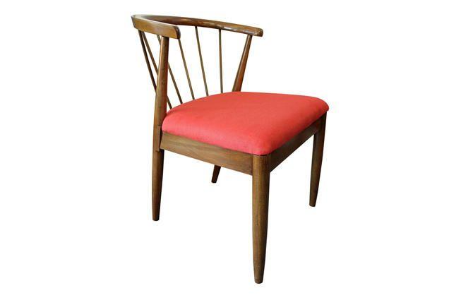 Remarkable Mid Century Modern Chair Danish Modern Red Walnut Curved Machost Co Dining Chair Design Ideas Machostcouk