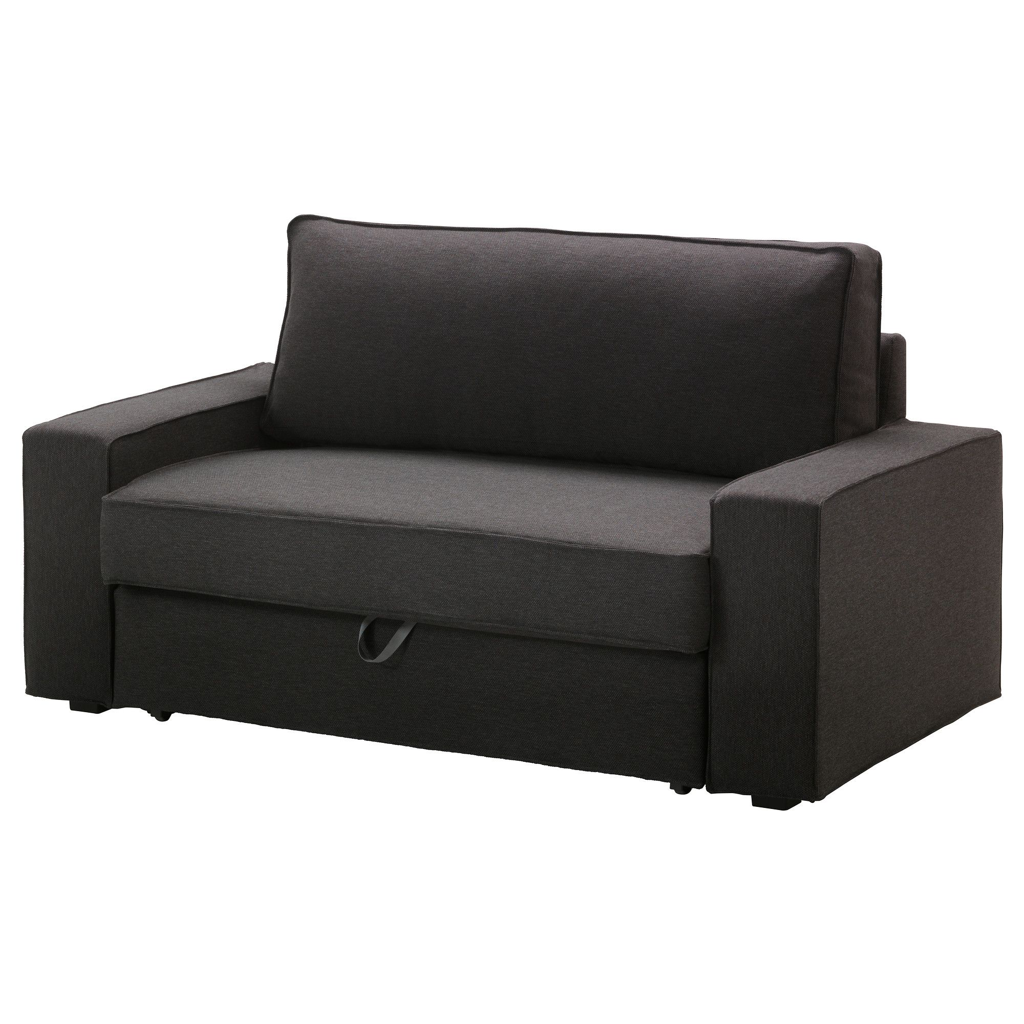 Housses Fauteuils Et Canapes Vilasund Two Seat Sofa Bed Cover Dansbo Dark Grey Ikea