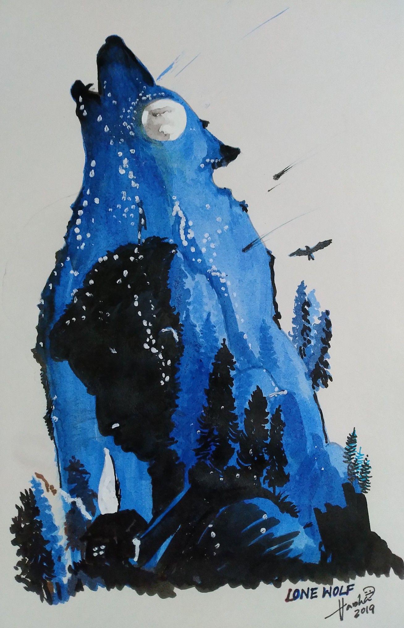 Lone wolf lone wolf sketch book art