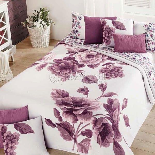 Colcha Flora 770 Manterol | Bed cover design, Bed linens