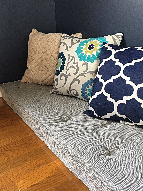 Custom Bench Cushions Window Seat Cushion French Mattress Floor Banquette
