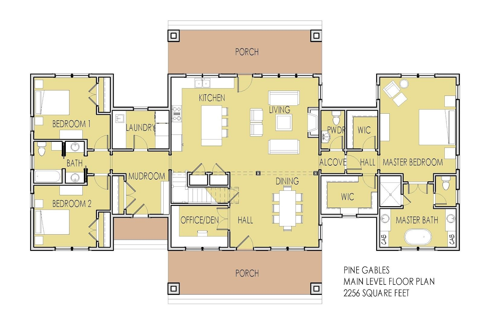 Image result for single story dual master suite floor
