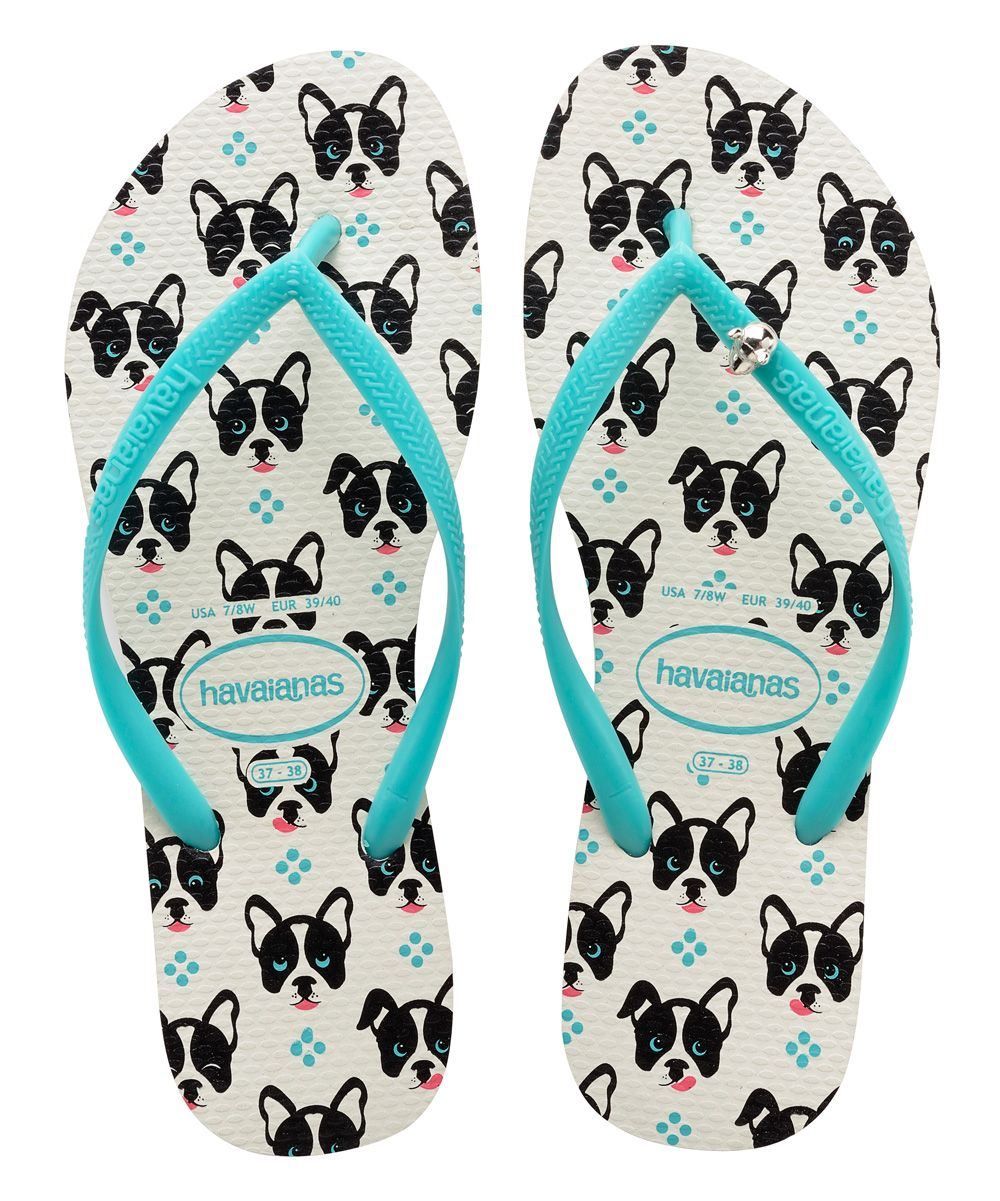 Unisex Summer Two French Bulldogs Beach Slippers Home Flip-Flop Flat Thong Sandal Shoes