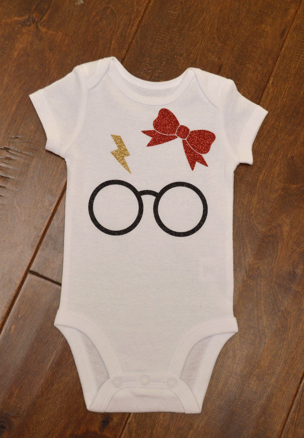 6fd42b4fe128 Baby girl Harry Potter baby bodysuit by MandiJDesigns on Etsy https://www.