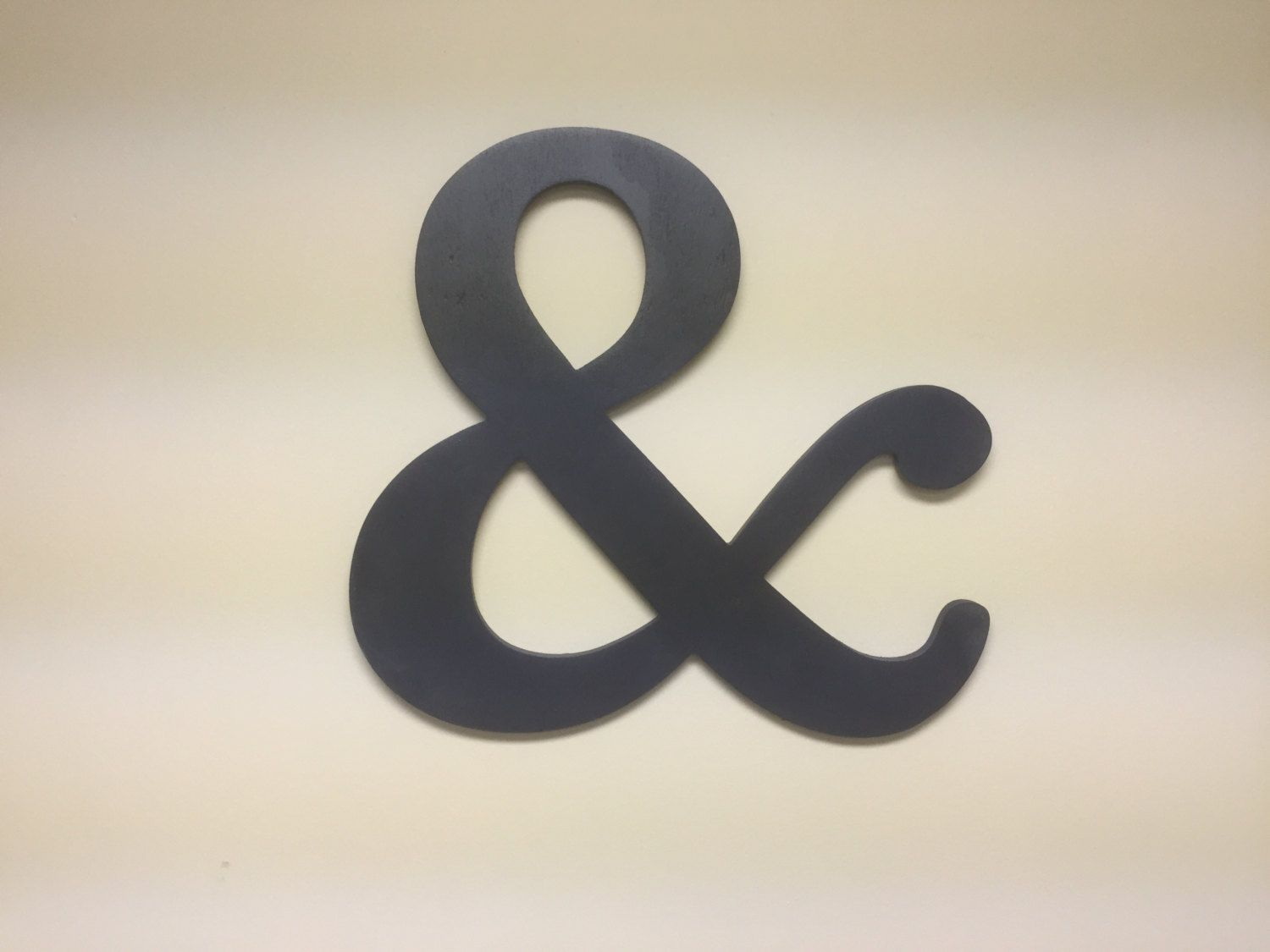 Ampersand Sign Navy Blue Large Symbol Decor Home Letter Wall