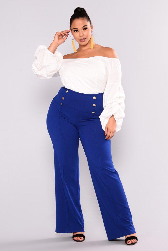 Kira Wide Leg Pants - Royal | clothes | Flattering plus size ...