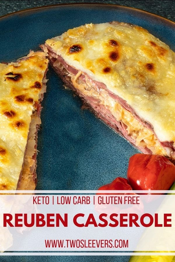 Low Carb Baked Reuben Casserole #lowcarbrecipes