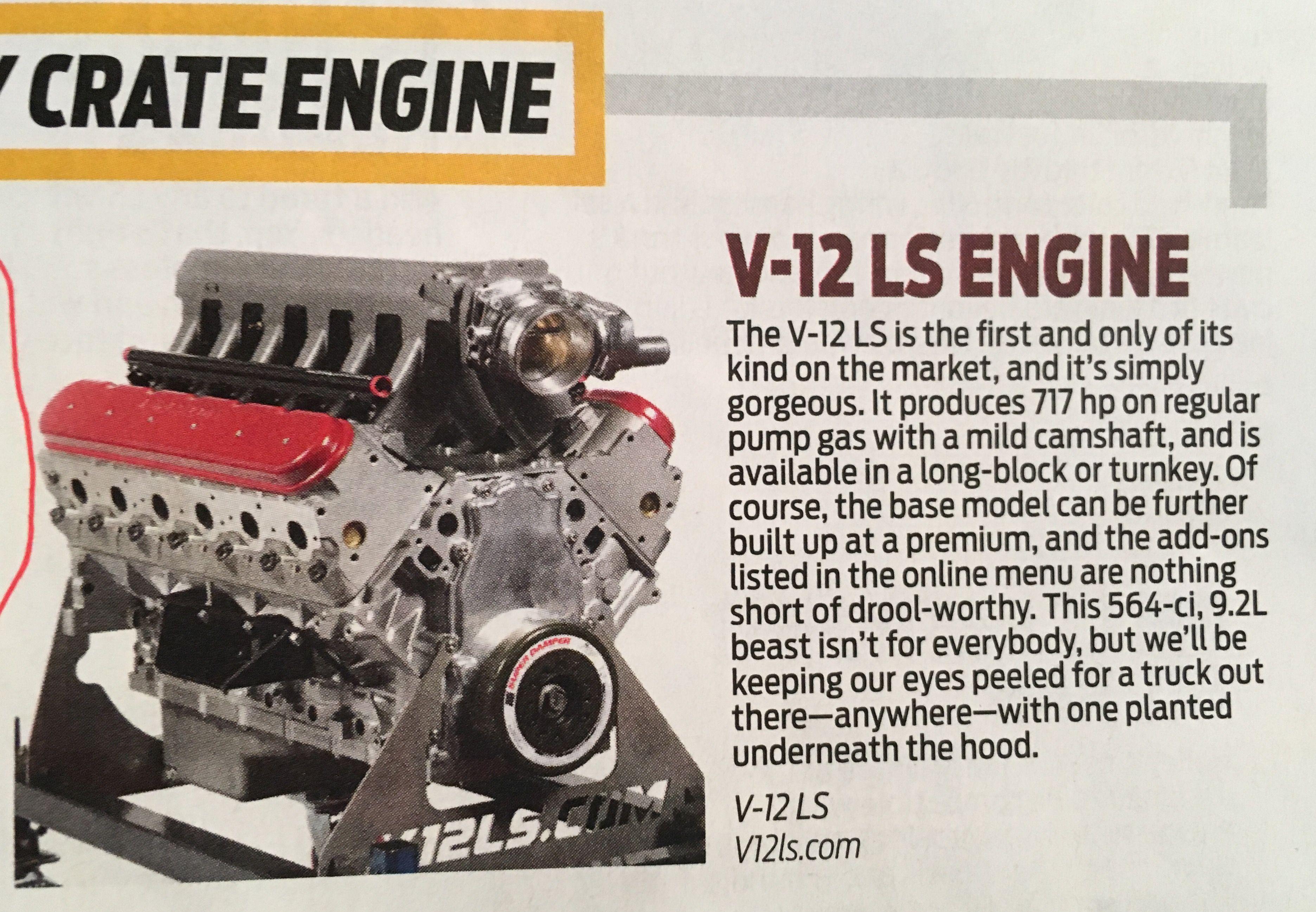 V12 LS Crate Engine!!! | HP | Crate motors, Crate engines, Ls engine