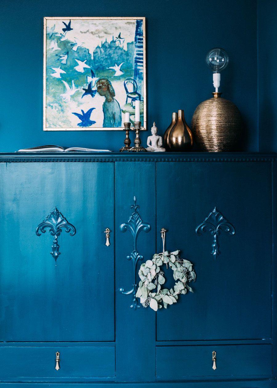 Kika In I Var Nya Bloggare Krickelins Fantastiska Hem Deco Bleue Interieurs Bleus Deco