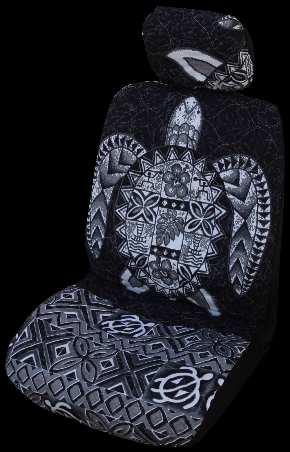 Brown Sea Turtle Hawaiian Separate Headrest Cover Overig Set of 2