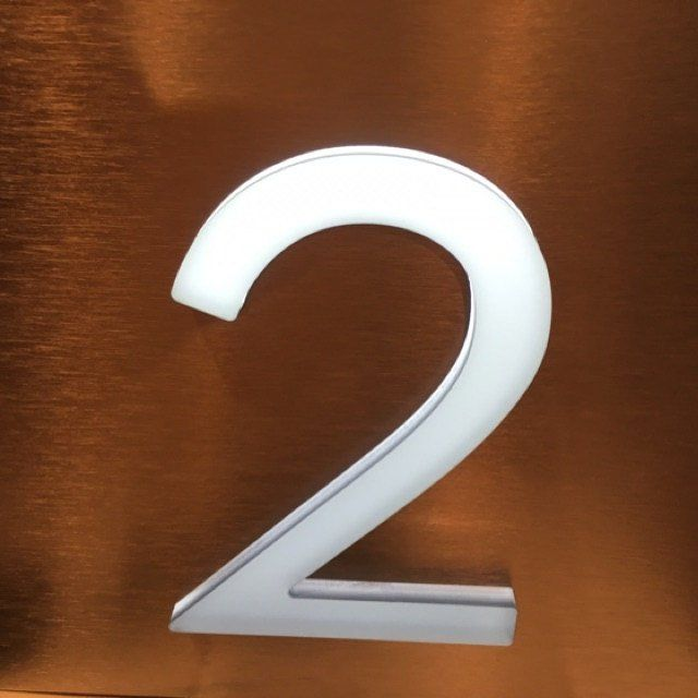 LED house number sign from Led house