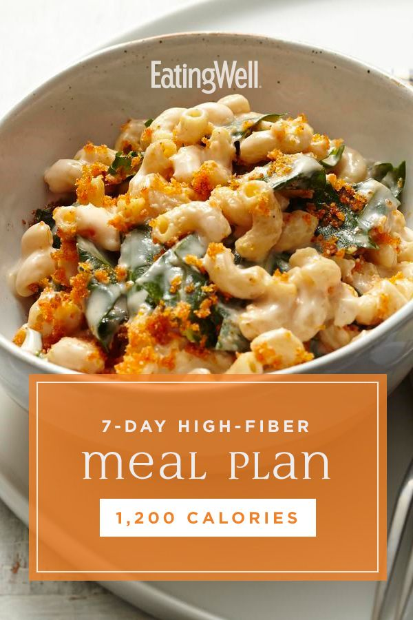7-Day High-Fiber Meal Plan: 1,200 Calories
