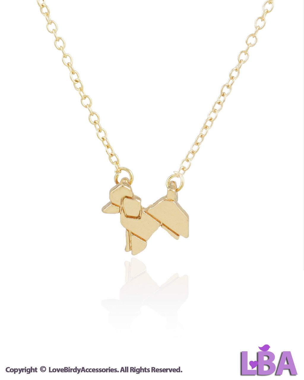 Dogs gold silver tone origami poodle dog pendant necklace dogs gold silver tone origami poodle dog pendant necklace aloadofball Image collections