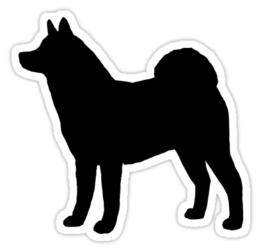 Akita Silhouette S Sticker By Jenn Inashvili Akita Dog Stencil Dog Lovers Art