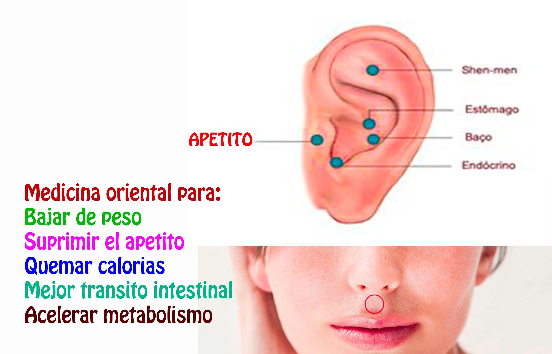 DOS PUNTOS DE PRESION PARA BAJAR DE PESO | acupuntura | Pinterest ...